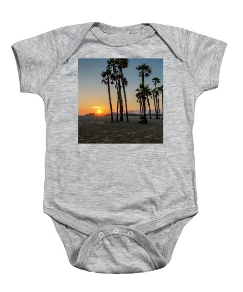 The Pier At Sunset - Square Baby Onesie