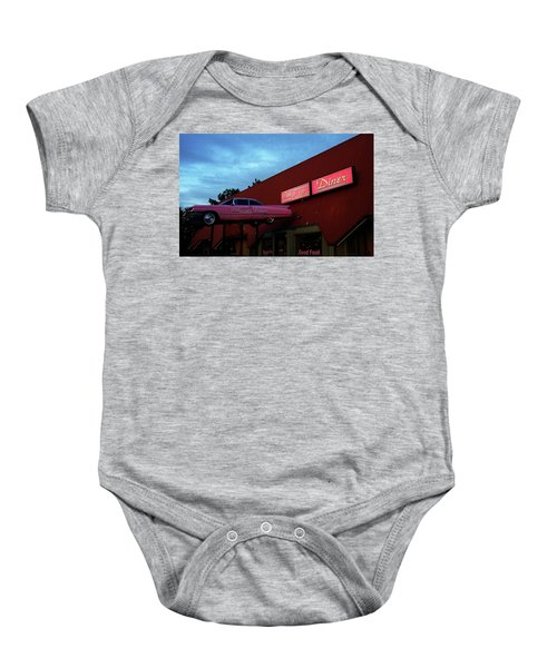 The Pink Cadillac Diner Baby Onesie