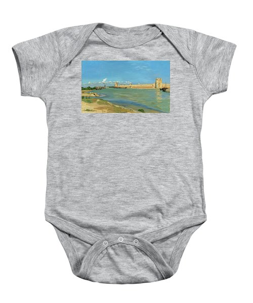 The Ramparts At Aigues Mortes Baby Onesie