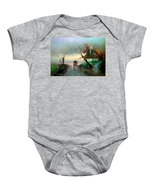 The Rays Of The Morning Sun Baby Onesie