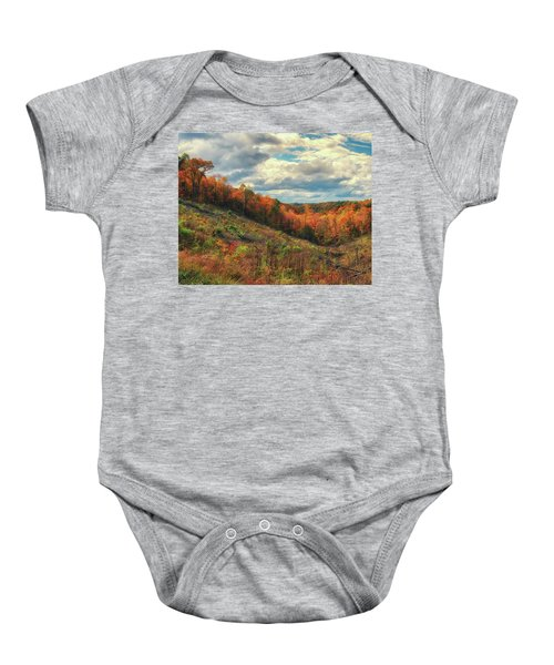 The Ridges Of Southern Ohio In Fall Baby Onesie