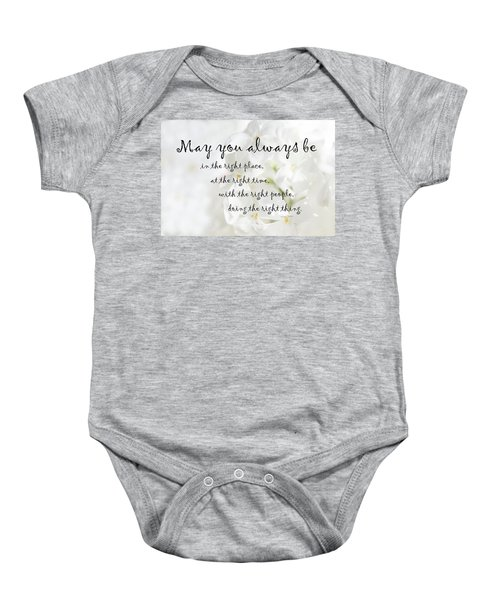 The Right Place Blessing Baby Onesie