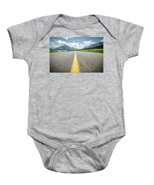 The Road To Glacier Baby Onesie