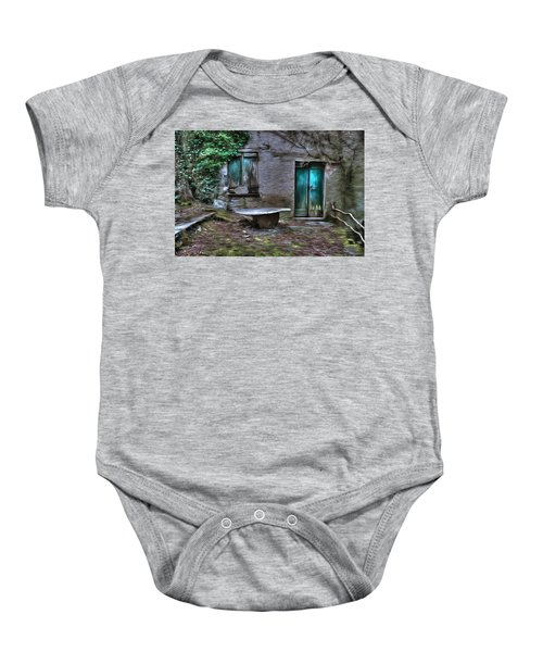 The Round Table House In The Abandoned Village Of The Ligurian Mountains High Way Baby Onesie