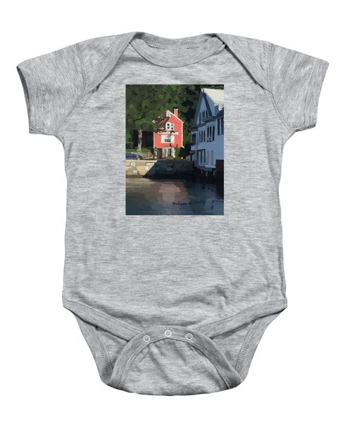 The Sacred Cod And Beacon Marine Baby Onesie by Melissa Abbott
