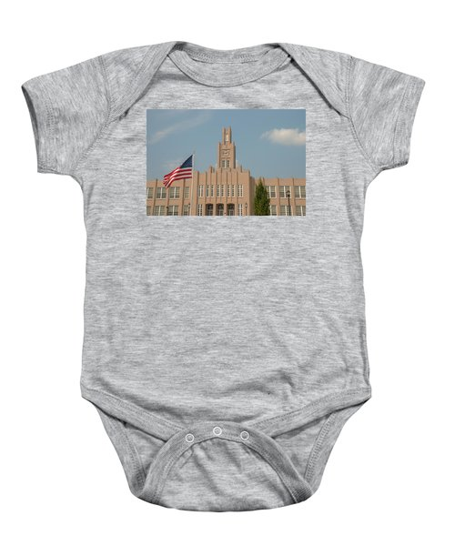 The School On The Hill Baby Onesie