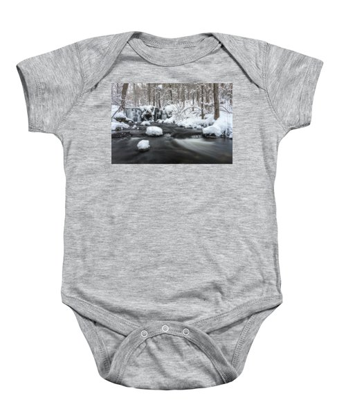 The Secret Waterfall In Winter 2 Baby Onesie