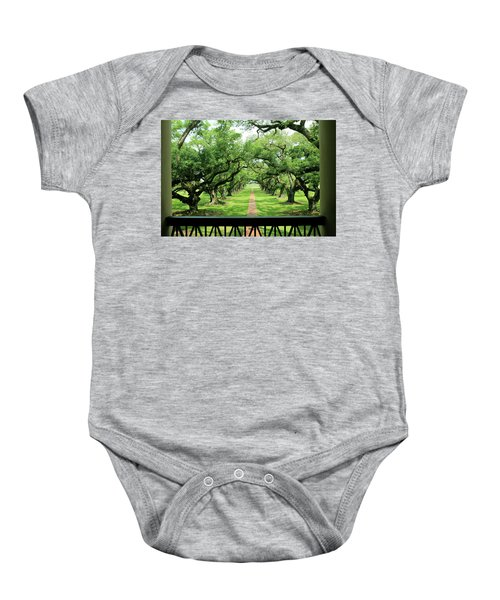 The Shade Of The Oak Tree Baby Onesie