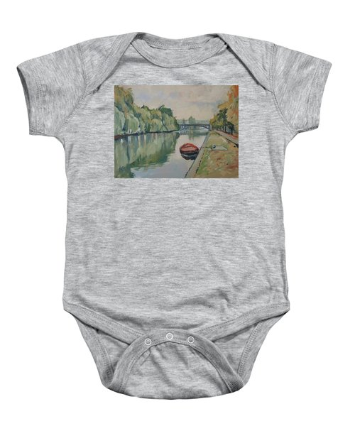 The Small Boat Along The Quai Of Halage Vise Baby Onesie