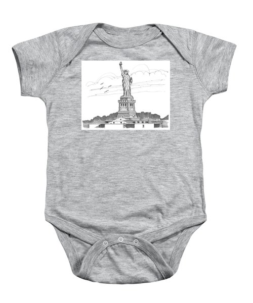 The Statue Of Liberty Lighthouse Baby Onesie