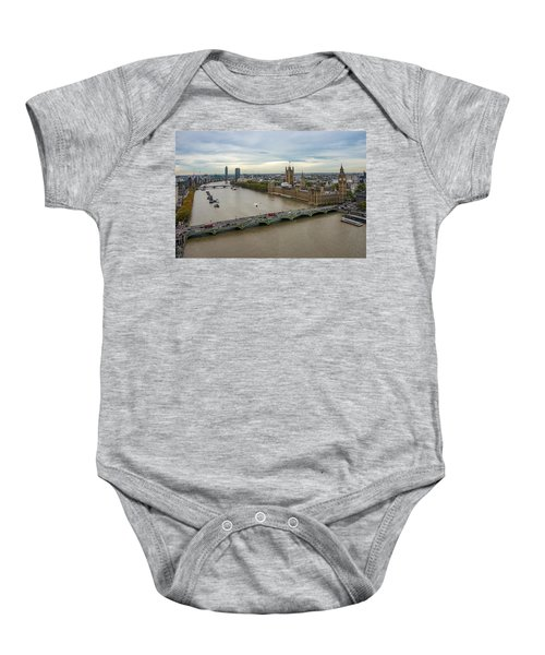 The Thames At Sunset Baby Onesie
