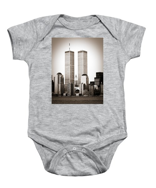 The Twin Towers Baby Onesie