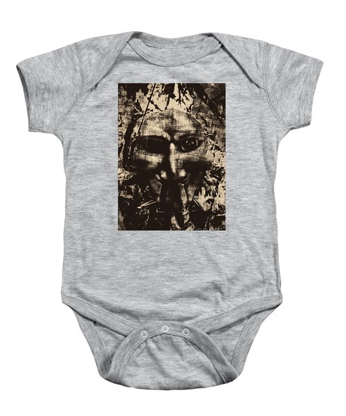 The Vintage Puppet Mask Baby Onesie