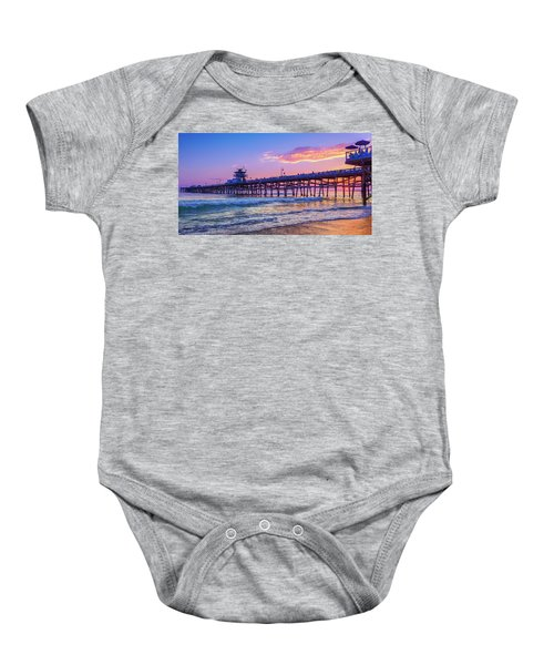 There Will Be Another One - San Clemente Pier Sunset Baby Onesie