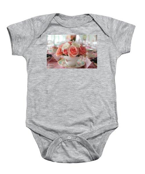 Teacup Roses Baby Onesie