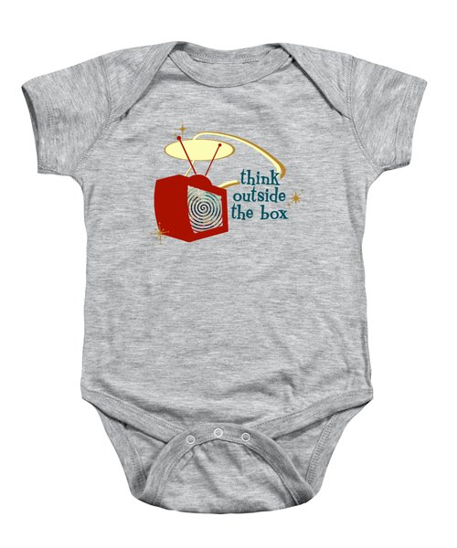 Think Outside The Box Baby Onesie