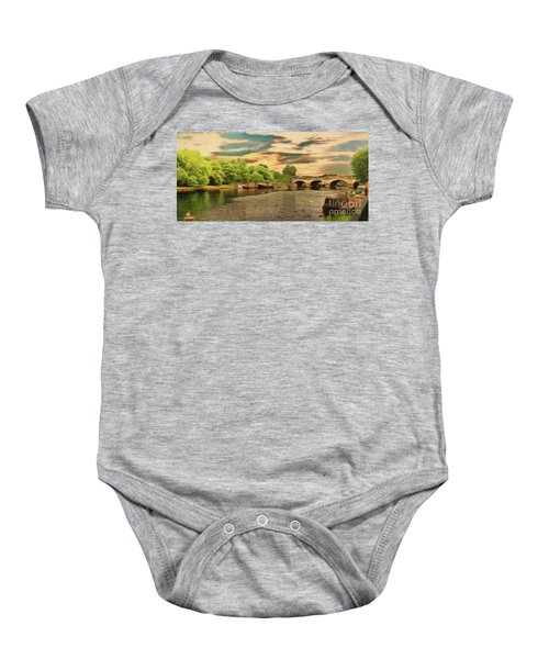 This Morning On The River Baby Onesie