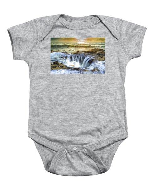 Thor's Well - Oregon Coast Baby Onesie