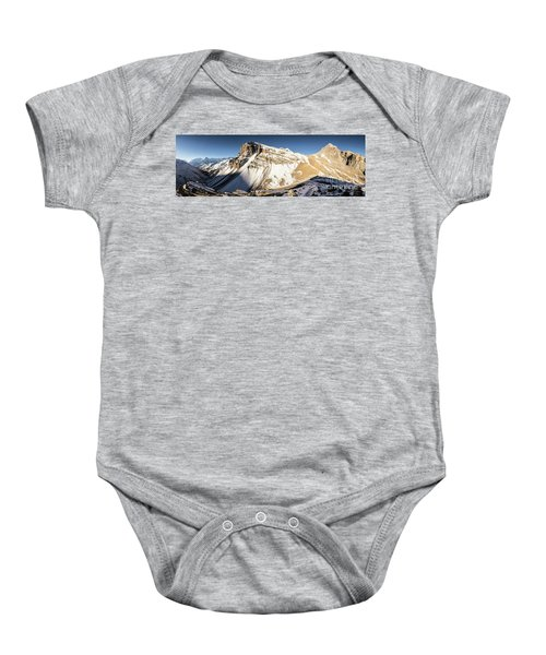 Thorung La Pass In The Annapurna Range In The Himalayas In Nepal Baby Onesie