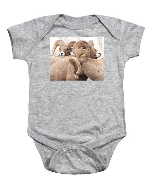 Three Bighorn Rams Baby Onesie