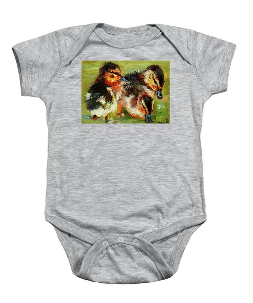 Three Little Ducks Baby Onesie