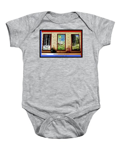 Three Of Four Seasons Baby Onesie