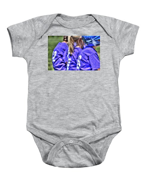 Three On The Bench 1621 Baby Onesie