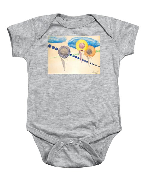 The Recession Of Depression 2 Baby Onesie by Rod Ismay