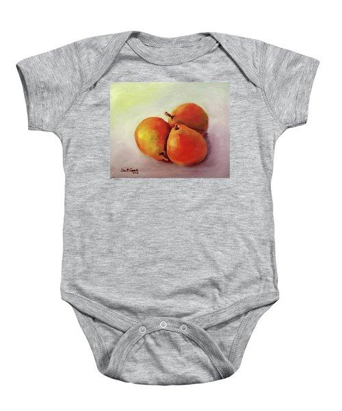 Three Pears Baby Onesie
