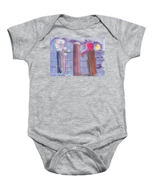Three Pillars Baby Onesie