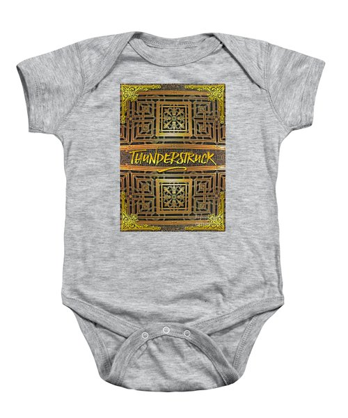 Thunderstruck Opera Garnier Ornate Mosaic Floor Paris France Baby Onesie