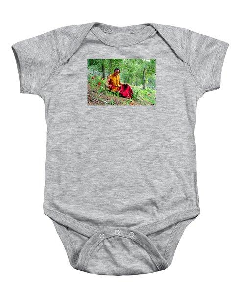 Tibetan Doctor In Lahav Forest Baby Onesie