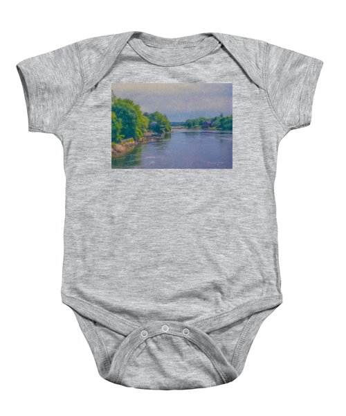 Tidal Inlet In Southern Maine Baby Onesie