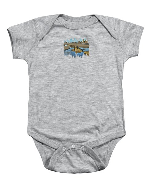 Tides Out At Seal Rock Beach Baby Onesie