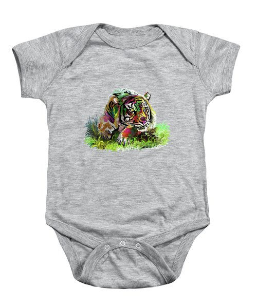 Colorful Tiger Baby Onesie by Anthony Mwangi