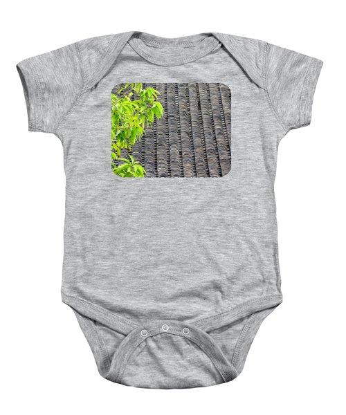Tiled Roof Baby Onesie by Ethna Gillespie