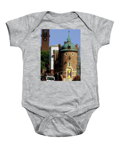 Time To Face The Harvard Lampoon Baby Onesie