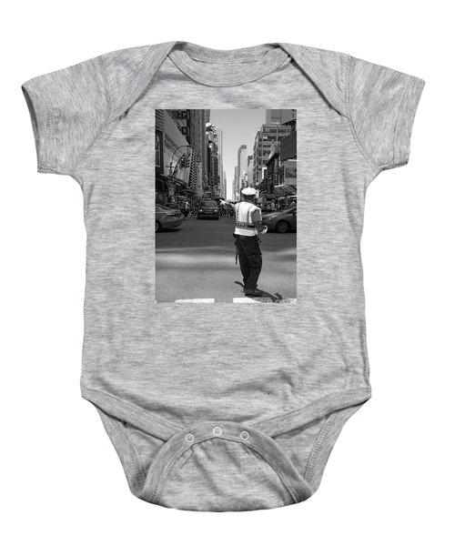 Times Square, New York City  -27854-bw Baby Onesie