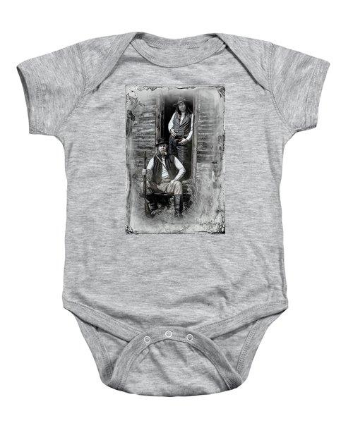 Tintype Portrait Reproduction Baby Onesie