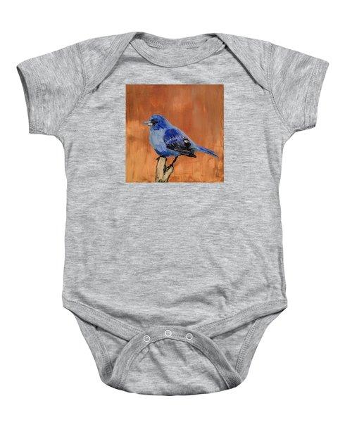 Tiny Blue Baby Onesie