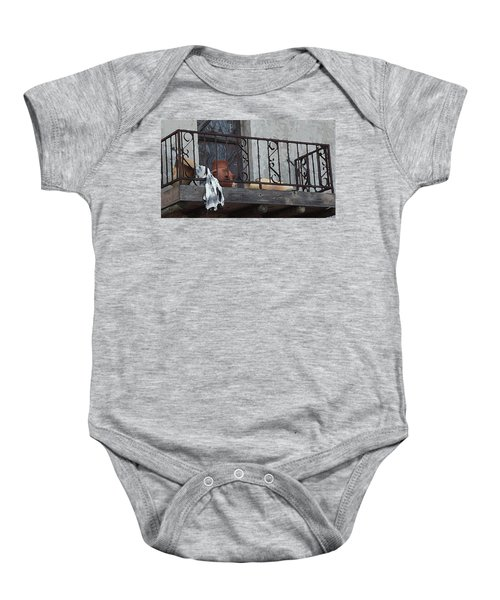 Tiny Southwest Balcony Baby Onesie
