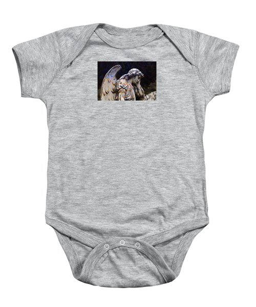 Tired Angel Baby Onesie