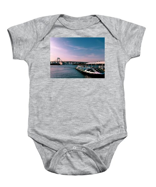 To The Space From Sea Baby Onesie by Momoko Sano