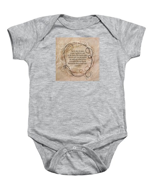 Togetherness Baby Onesie