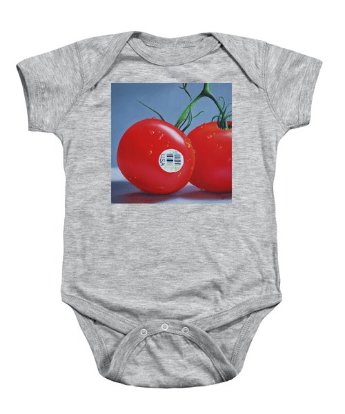 Tomatoes With Sticker Baby Onesie