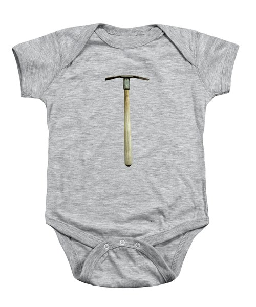 Tools On Wood 16 On Bw Baby Onesie by YoPedro