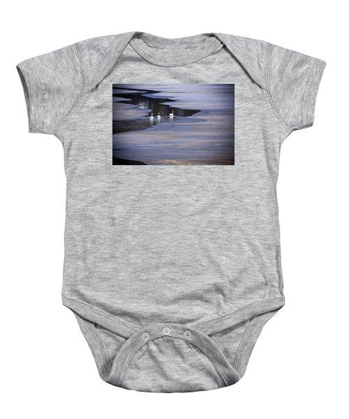 Tourist Swans Baby Onesie