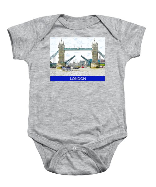 Tower Bridge London England Baby Onesie