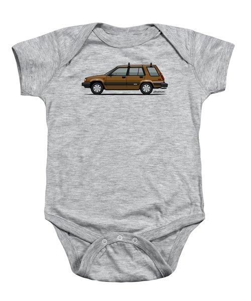 Toyota Tercel Sr5 4wd Wagon Al25 Bronze Baby Onesie