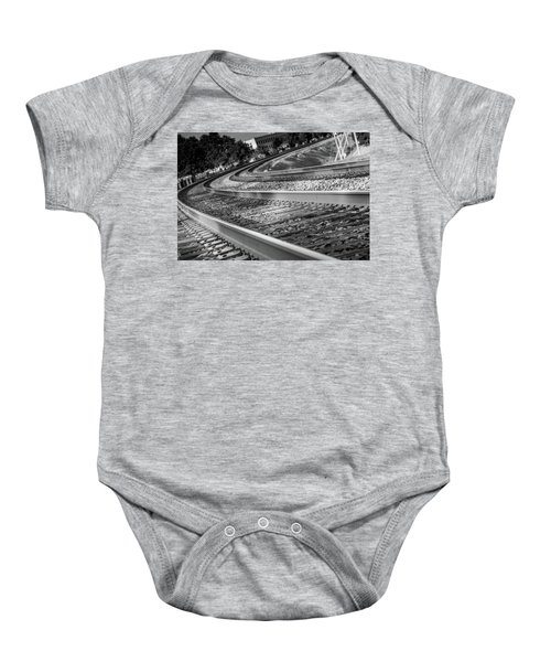 Tracks Through Historic Buford Baby Onesie
